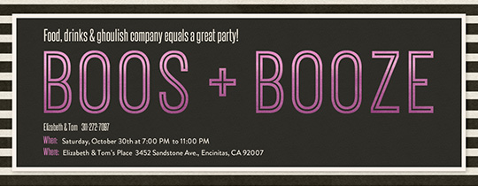 Boos Booze Invitation