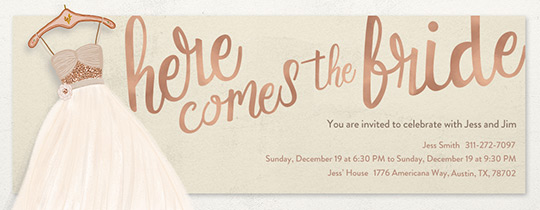 Free Bridal Shower Invitations Evite