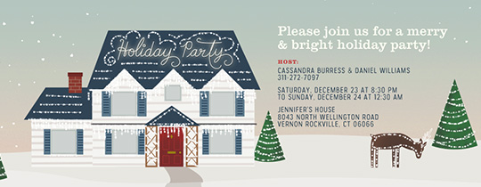 Bright Light House Invitation