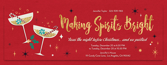 Office holiday party online invitations evite bright spirits invitation reheart Images