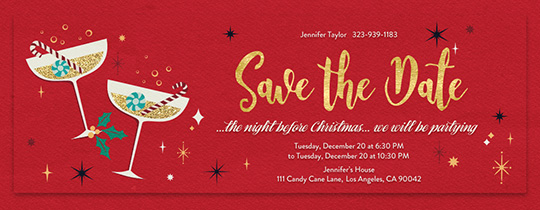 Bright Spirits Save the Date Invitation