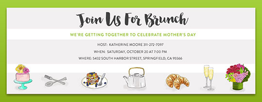 Brunch Mom Invitation