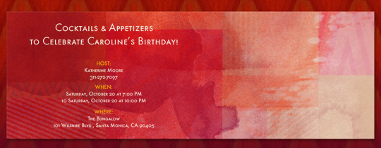 Burnished Watercolors Invitation