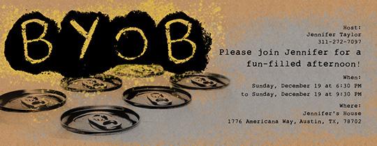 Free house party online invitations evite byob invitation stopboris Gallery