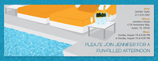 Cabana Pool Party Invitation