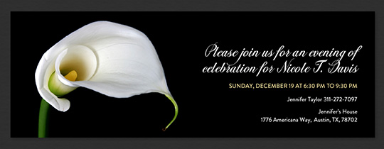 Calla Lily Invitation
