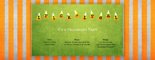 Candy Stripes Invitation