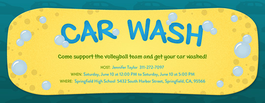 Car Wash Invitation