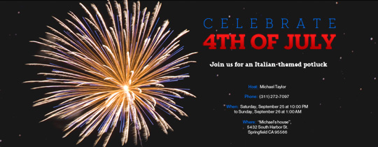 Free Fourth of July Party Invitations Evitecom