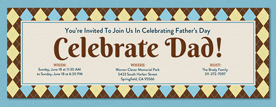 Celebrate Dad Invitation