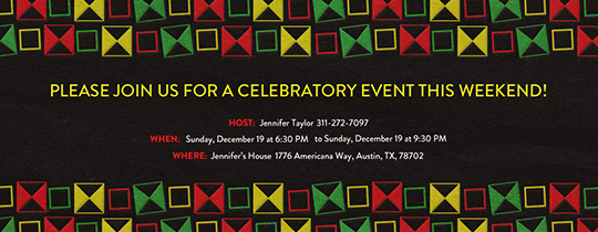 Celebrating History Invitation