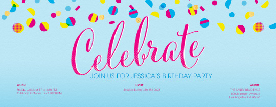Celebration Dots Pink Invitation