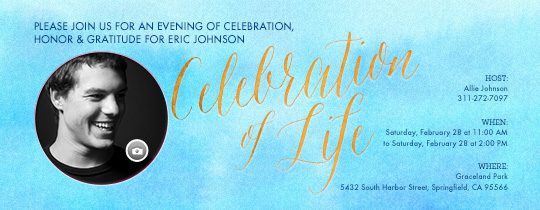 Celebration of Life UYO Invitation