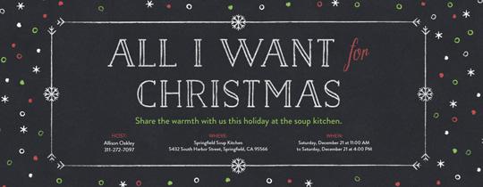 Christmas Wish Invitation