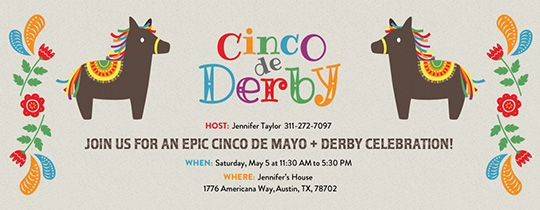 Cinco de Derby Invitation