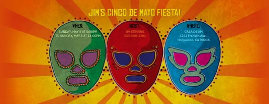 Cinco Masks Invitation
