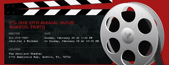 Movie Tv Night Free Online Invitations