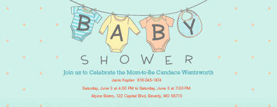 free baby shower 18 clothes line invitation
