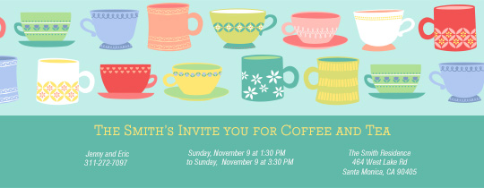 Coffee and Tea Invitation