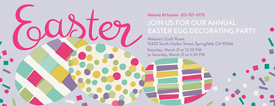 Confetti Eggs Invitation