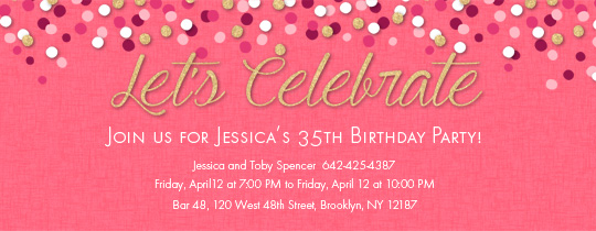 Free Birthday Party Invitations For Her