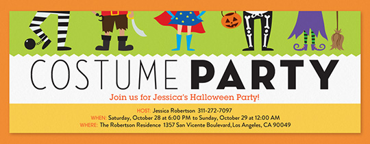 Online Halloween Invitations for Kids Evite – Halloween Costume Party Invite