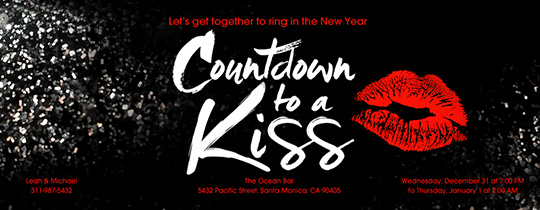 Countdown Kiss Invitation