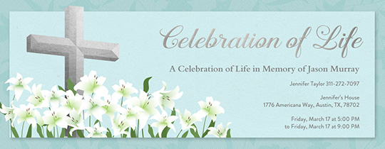 Cross and Lilies Invitation