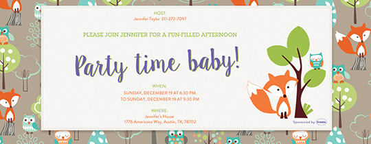 Party Time, Baby! Invitation