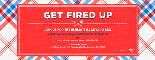 Get Fired Up Invitation