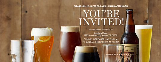Birthday Brew Invitation