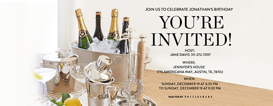 Champagne On Ice Invitation