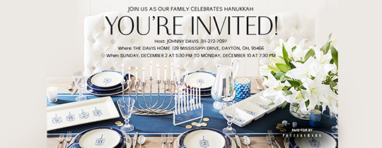 You're Invited Hanukkah Invitation
