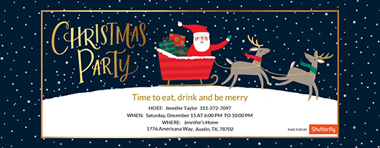 Christmas Party Santa Invitation