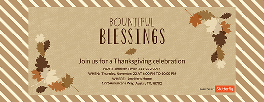 Bountiful Thanksgiving Invitation