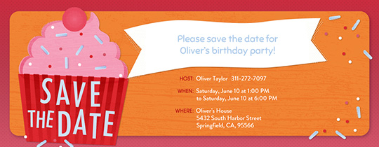 save the date birthday free online invitations