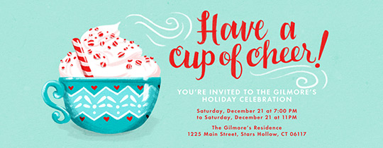 Cup of Cheer Invitation