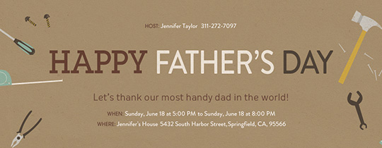 Dad Tools Invitation