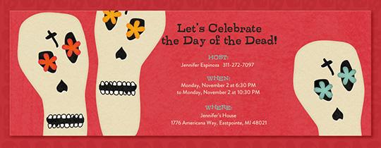 Day Of The Dead Wedding Invitations: Free Dia De Los Muertos Online Invitations