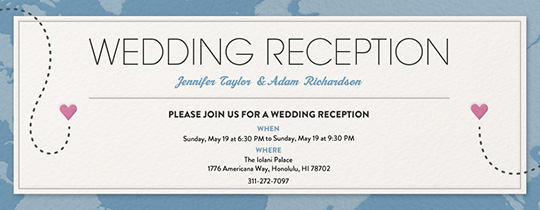 Destination Reception Invitation