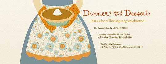 Dinner & Dessert Invitation