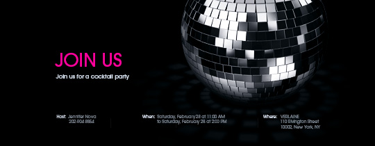Discoball Party Invitation