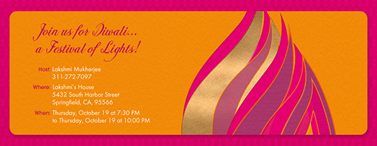 Free online diwali party invitations evite diwali flame invitation m4hsunfo