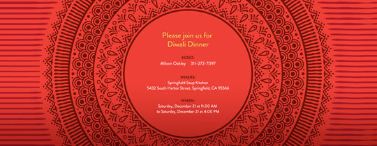 Diwali Rings Invitation