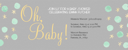Dot Baby Invitation