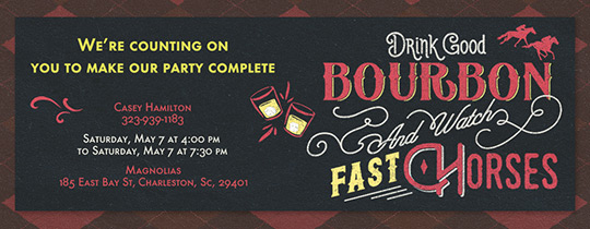 Drink Good Bourbon Invitation