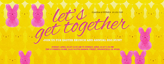 Easter Peeps Invitation