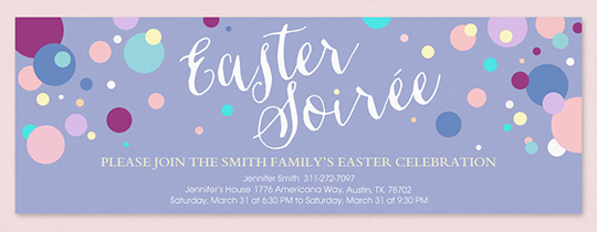 easter soiree invitation