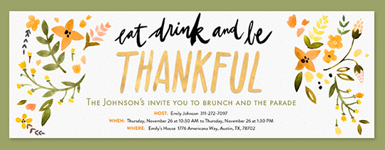 free online thanksgiving dinner invitations evite com