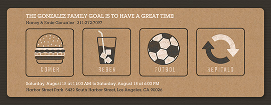 Eat, Drink, Soccer, Repeat Invitation